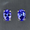 1.03 ct Oval Tanzanite Stud Earrings