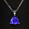 Trillant Tanzanite Pendant in 14K White gold