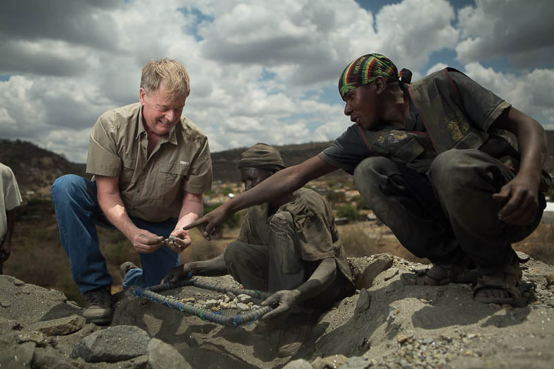 Steve with Tanzanite Miners