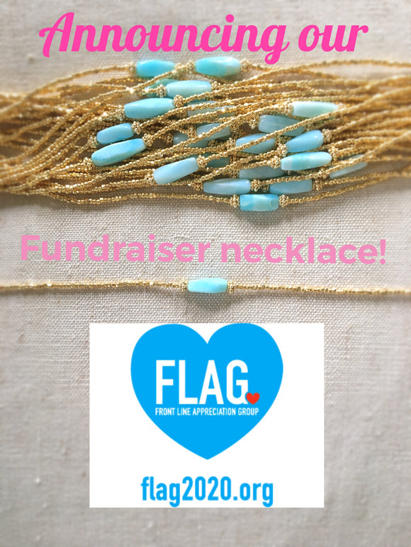 SUMMER LOVE DESIGNS EXCLUSIVE FLAG necklace