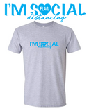 "FLAG ""I'M SOCIAL distancing"" White or Grey Tee"