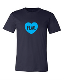 FLAG LOGO Toddler Tee Pink or Navy