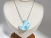 Larimar cute moon pendant