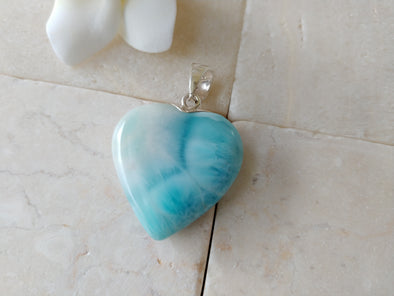 Larimar unique Sea pattern pendant