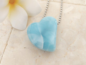 Larimar cute heart shape pendant