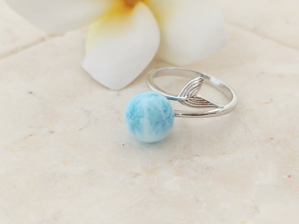 Larimar tail ring