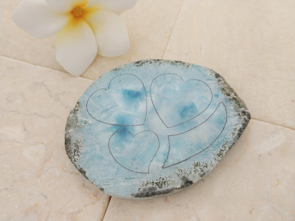 "Larimar ""colmillo"" necklace"