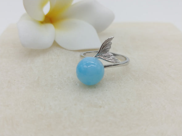 Larimar Libero Tail Ring