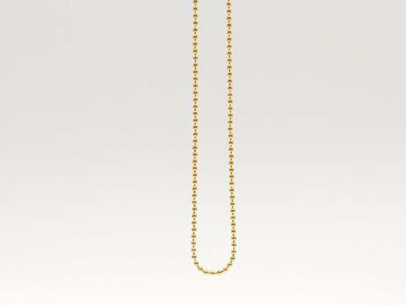 Necklace Ball chain SUS316L IP Gold color