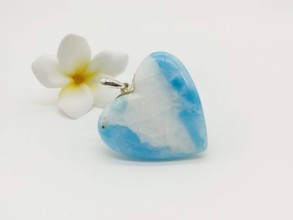 Larimar beauty BIG heart pendant
