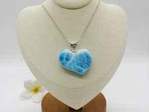 Larimar AAA unique heart pendant