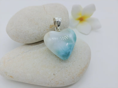 Larimar lovely heart pendant