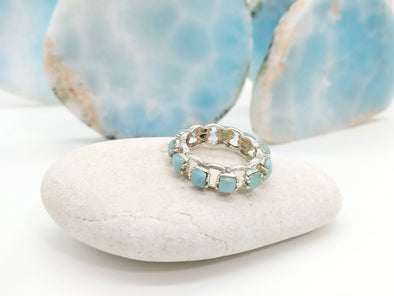 Larimar Row Ring