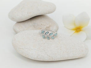 Larimar Olive Leaf Ring