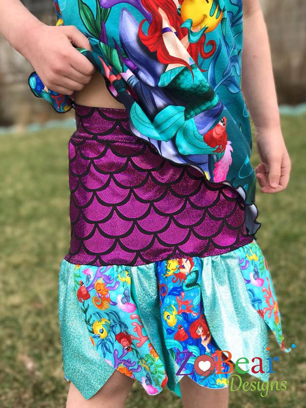 New Be Inspired Skirt Pattern will have your little girl flipping with excitement!