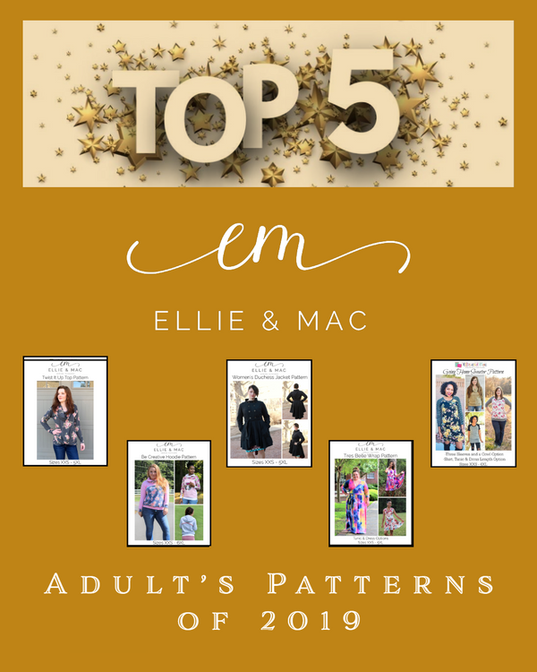 Our fantastic top 5 adult's patterns of 2019