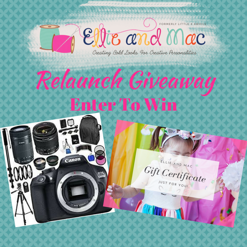Ellie and Mac Relaunch Giveaway!