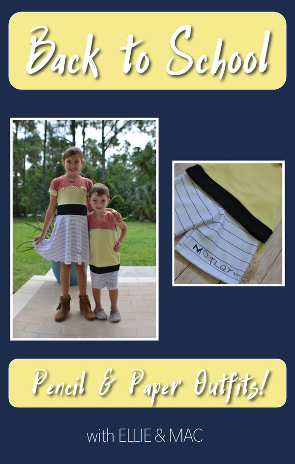 Back-to-School Pencil and Paper Outfits