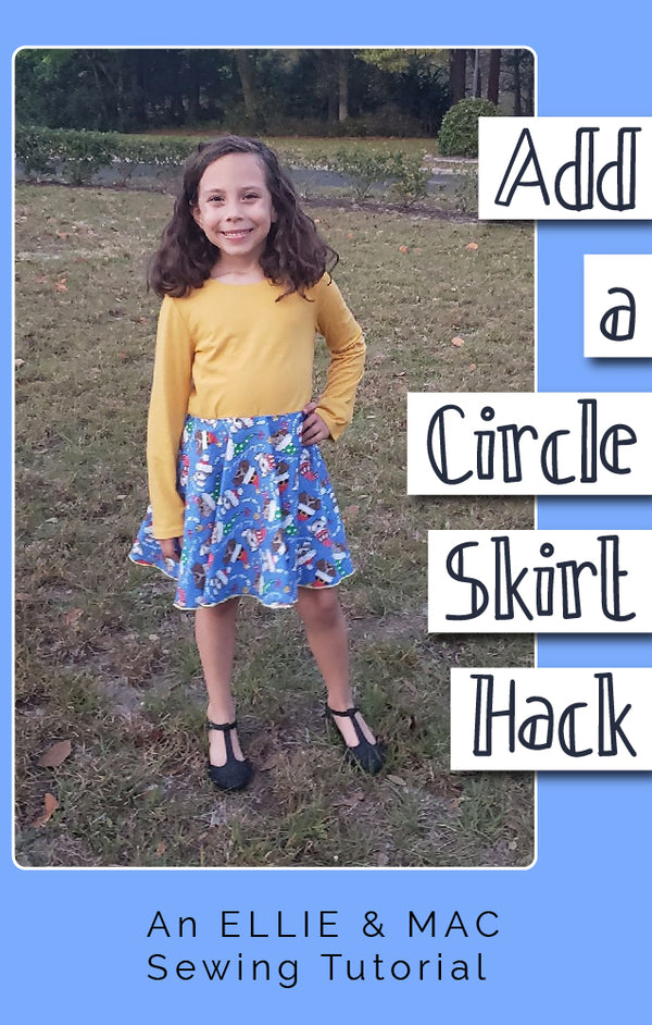 How to Make and Attach a Circle Skirt to a Store Bought Top