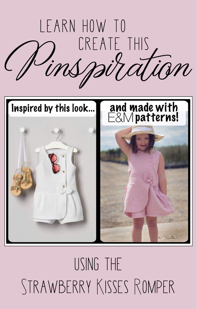 Learn How To Create This Pinspiration: Using The Strawberry Kisses Romper