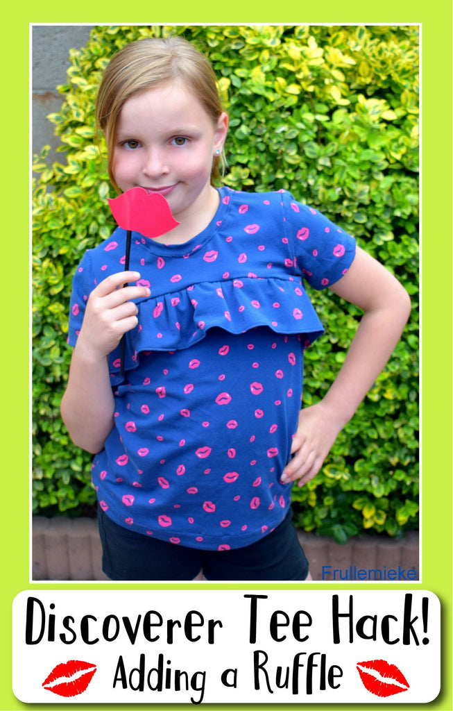 Discoverer Tee Hack: Adding a ruffle