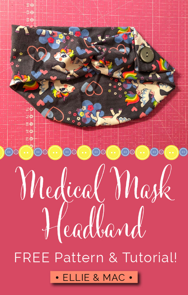 Headband with Button Option for Medical Mask