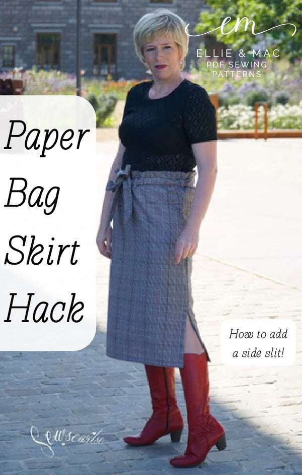 How to add a side slit to the Paperbag Skirt