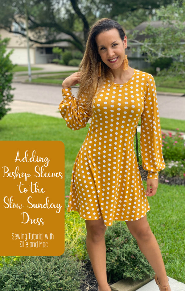 Slow Sunday Dress Pattern Bishop Sleeves Hack