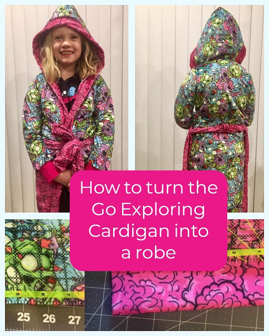 How to turn your Go Exploring Cardigan into a robe
