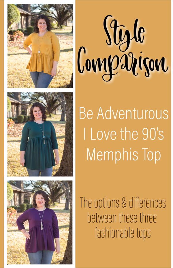 Style Comparison: the options & differences between three fashionable tops