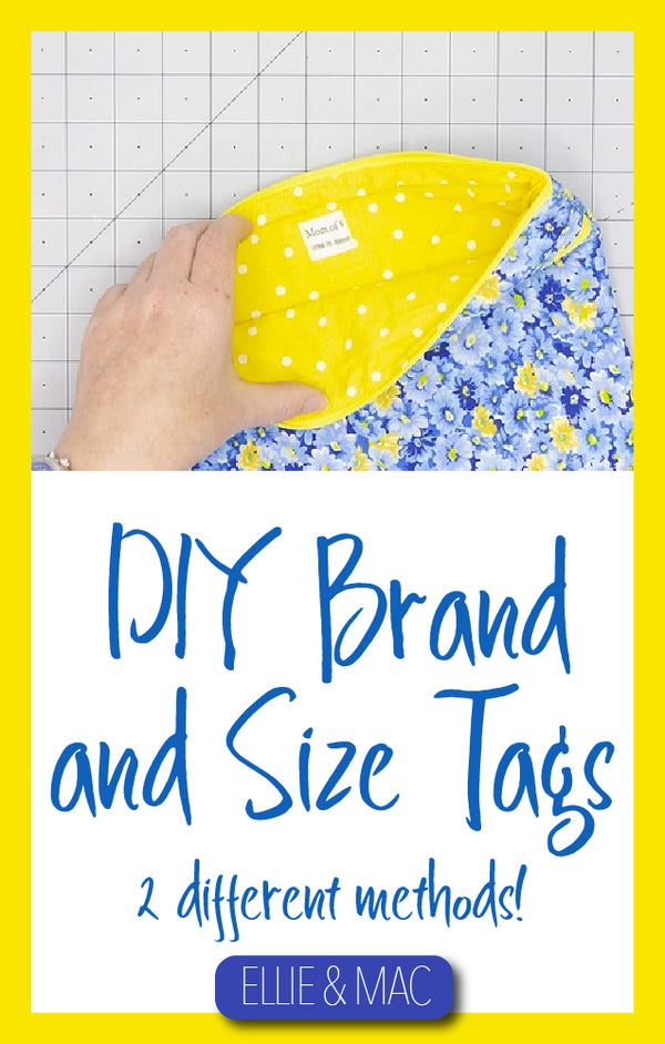 Making Your Own Tags for Sewing Projects