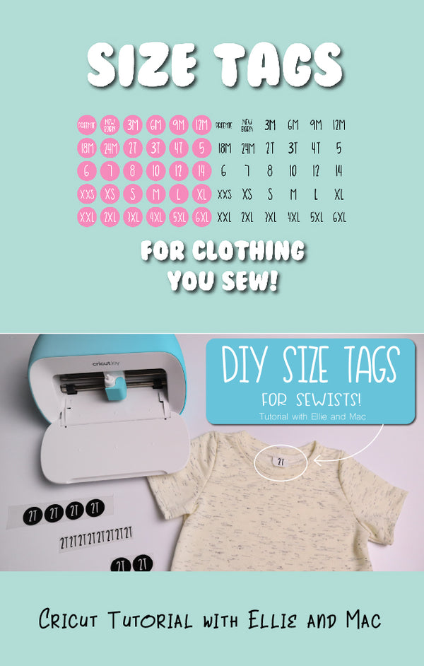 DIY Size Tags for Clothing Sewing