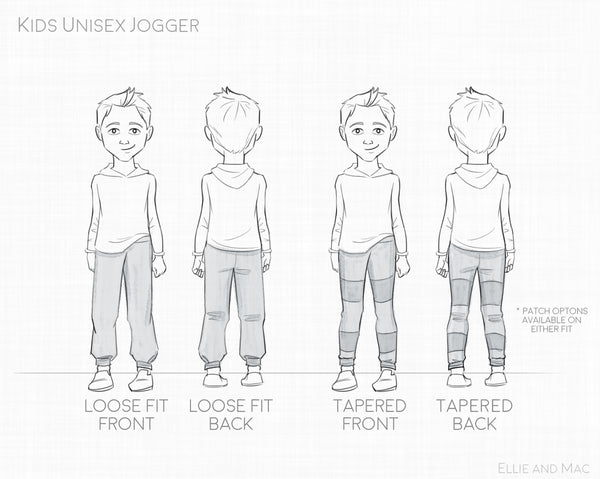 Unisex Jogger Sewing Pattern by Ellie and Mac Sewing Patterns
