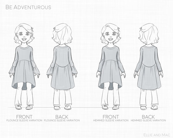 Be Adventurous Girls Sewing Pattern By Ellie and Mac Sewing Pattern