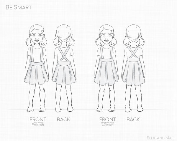 Be Smart Jumper Sewing Pattern Line Drawing for Ellie and Mac Patterns