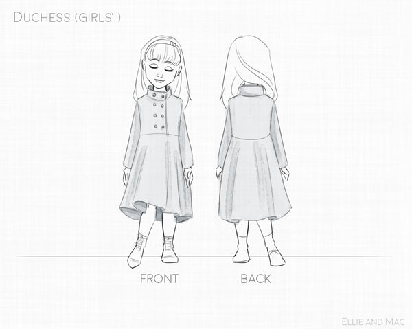 Girls Duchess Jacket Sewing Pattern for Ellie and Mac Patterns