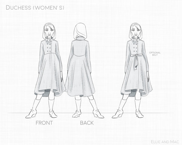 Duchess Women's Jacket Sewing Pattern for Ellie and Mac Sewing Patterns