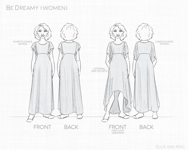 Be Dreamy Women's Sewing Pattern by Ellie and Mac Sewing Patterns