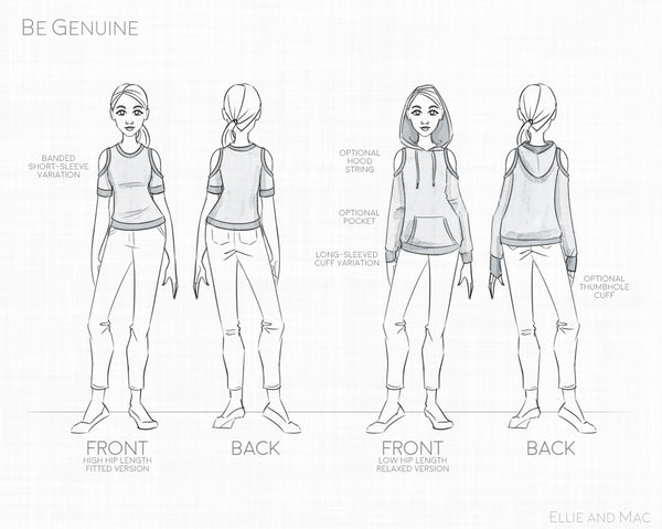 Be Genuine Top Sewing Pattern by Ellie and Mac Sewing Pattern
