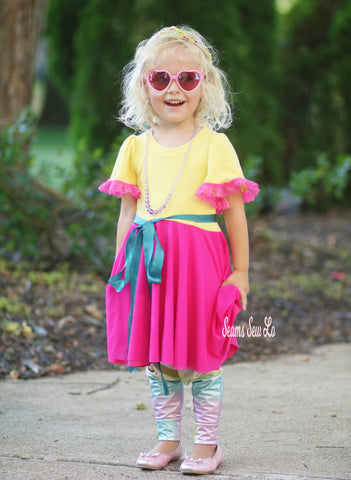 How To Add A Mesh Overlay To A Circle Skirt Fancy Nancy Costume Sewing Pattern Tutorial