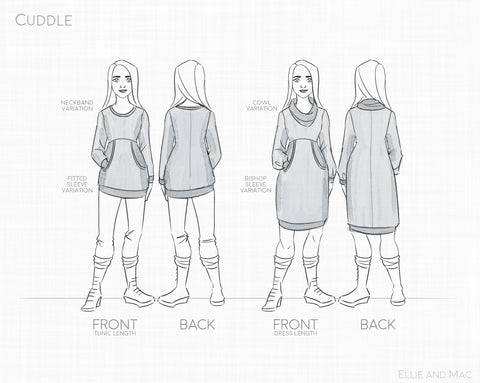 Cuddle Tunic Sweater Sewing Pattern