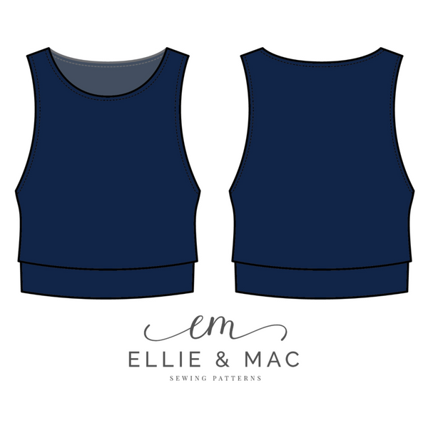 Beach Dreaming Crop Top Pattern by Ellie and Mac Sewing Patterns