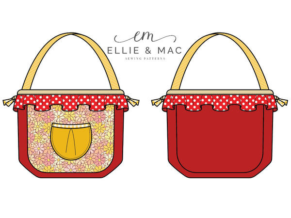 Carry All Purse Pattern By Ellie and Mac Sewing Patterns