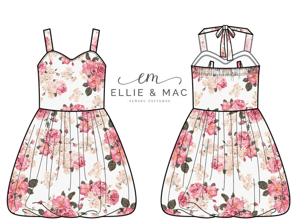 Dream Big Bubble Dress Sewing Pattern by Ellie and Mac Sewing Patterns