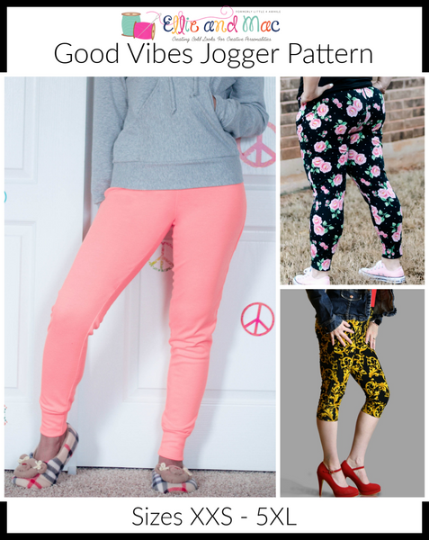 Good Vibes Jogger sewing pattern