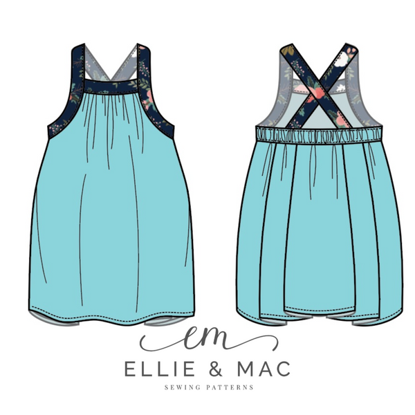 Kids Free To Be Me Tank Top Pattern by Ellie and Mac Sewing Patterns