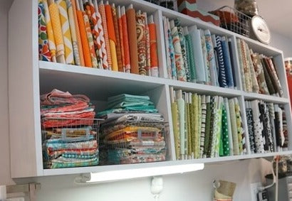 Sewing Room Organization Ideas Fabric storage