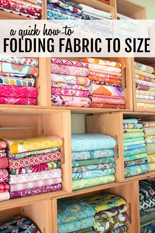 Sewing Room Organization Ideas Fabric Folding