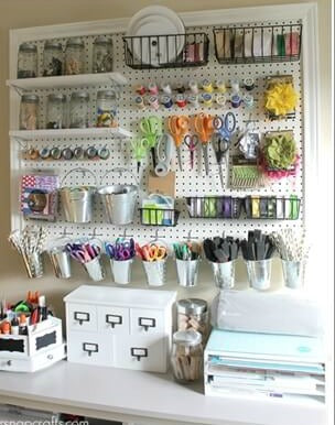 Sewing Room Organization Ideas Peg Board