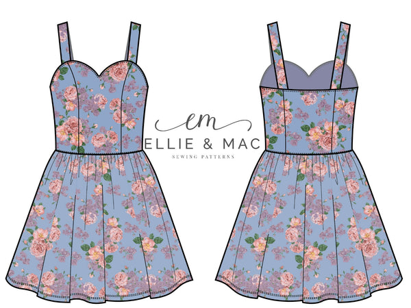 Sunset Dreams Tank Dress Sewing Pattern by Ellie and Mac Sewing Patterns